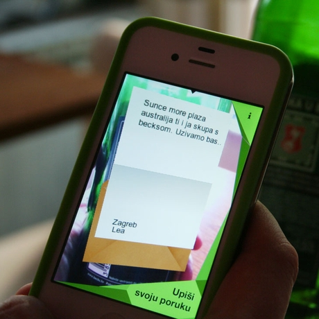 Beck's Message in a Bottle App in Use 4